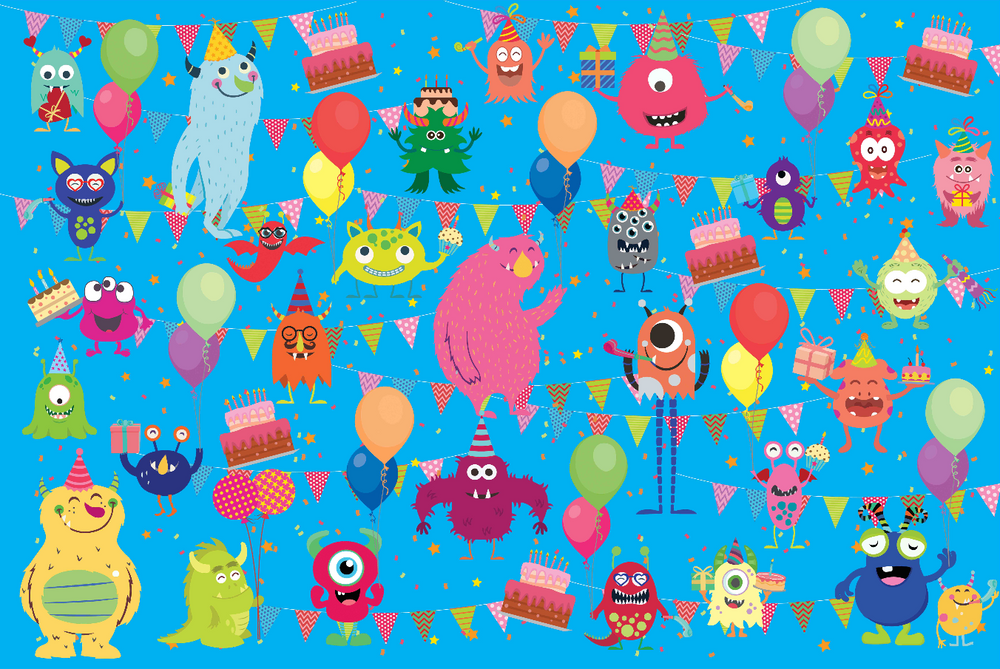 Friendly Monster Wrapping Sheets