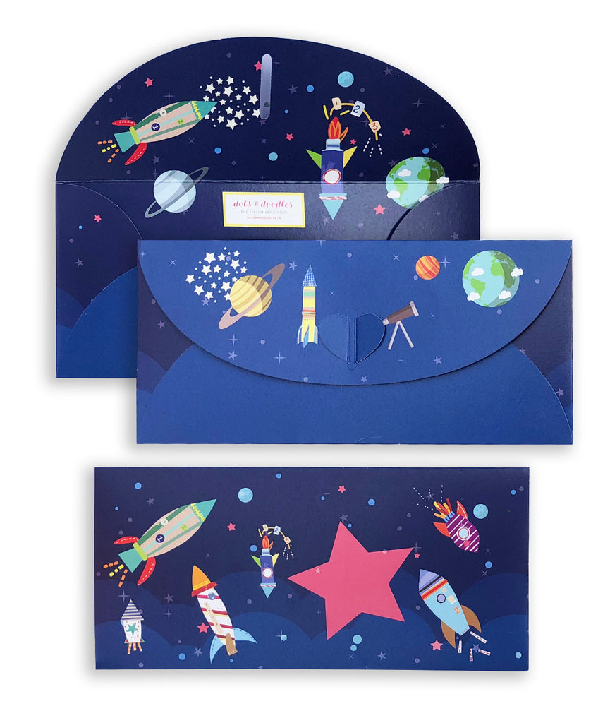 Outer Space 10 Gift Envelopes