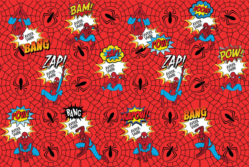 Spiderman Customized 100 Wrapping Sheets