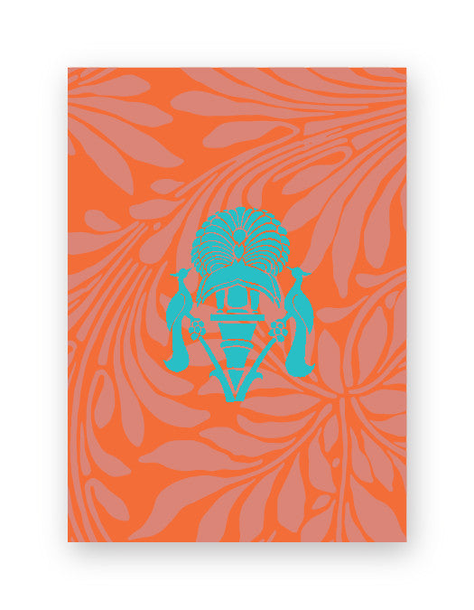 Royal Motif Orange Box of Gift Tags