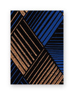 Deep Blue Art Deco Box of Gift Tags