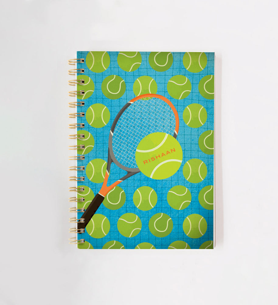 Tennis Personalised Doodle Book