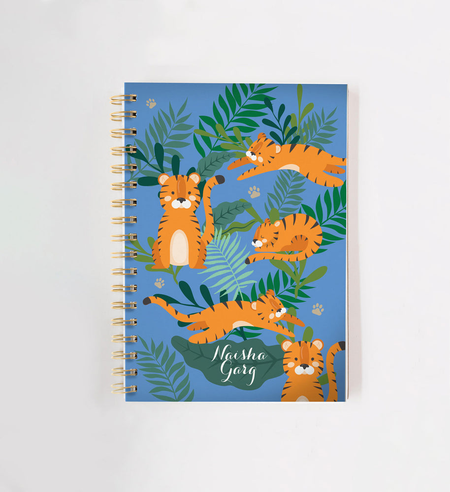 Tiger Personalised Doodle Book