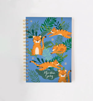 Load image into Gallery viewer, Tiger Personalised Doodle Book