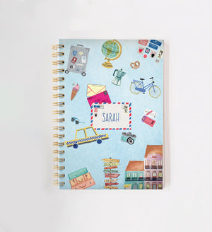 Travel Personalised Doodle Book
