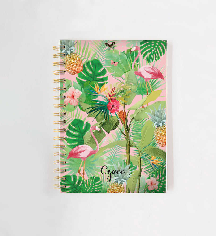 Tropical Personalised Doodle Book