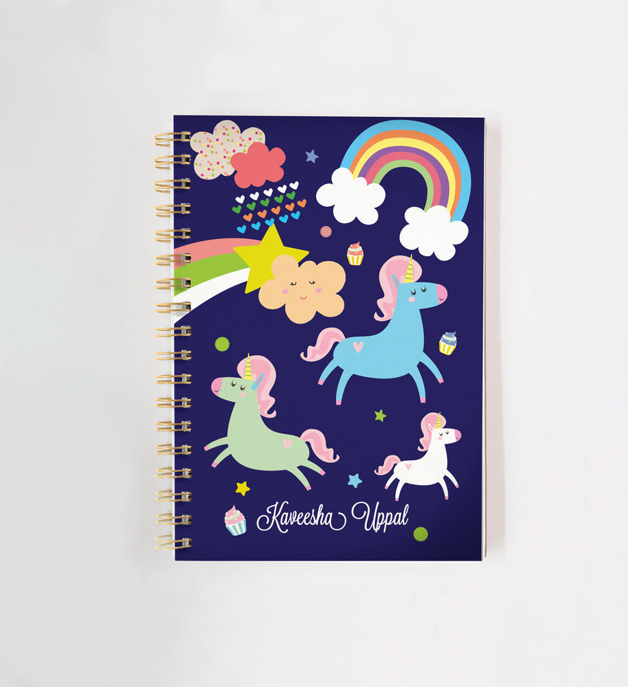 Unicorn & Rainbow Personalised Doodle Book