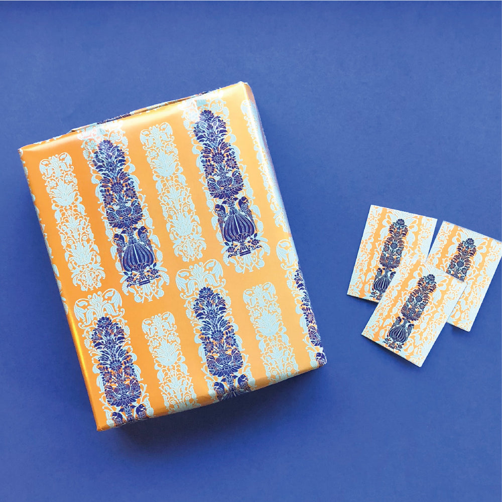 Heritage Gift Tag & Wrapping Paper Bundle