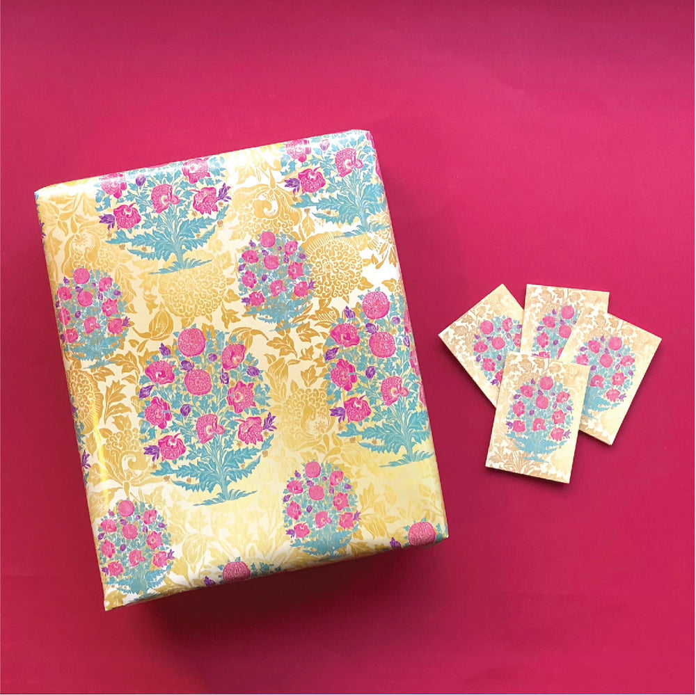 Azaleas Gift Tag & Wrapping Paper Bundle