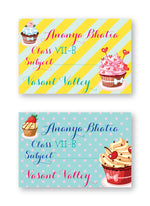 Cupcake School Labels