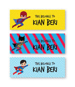 Superhero Book Labels