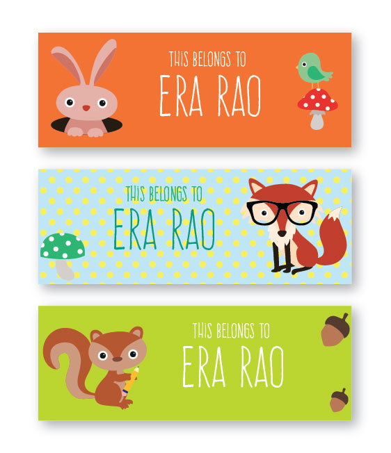 Animal Fun Book Labels