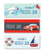 Fun Travel Book Labels
