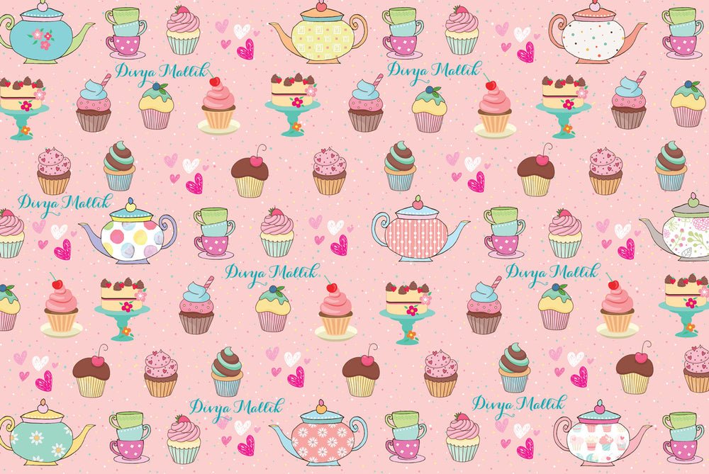 Cupcake Customized 100 Wrapping Sheets