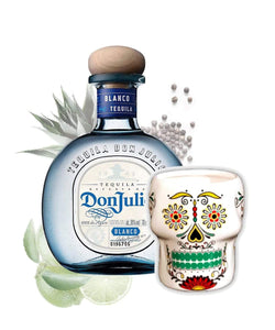 Don Julio Blanco inkl. Gratis Totenkopfbecher