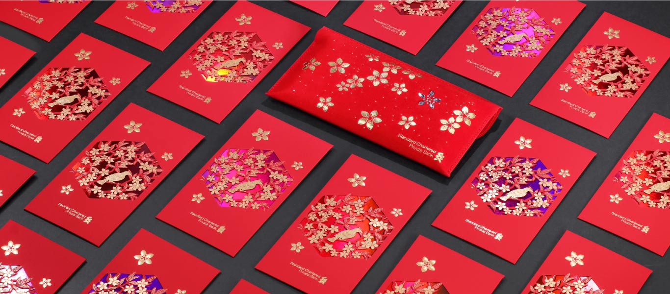 Standard chartered red envelop, hong kong paper art cut tailor made corporate gift by joe wong design 香港設計師藝術家黃文翰