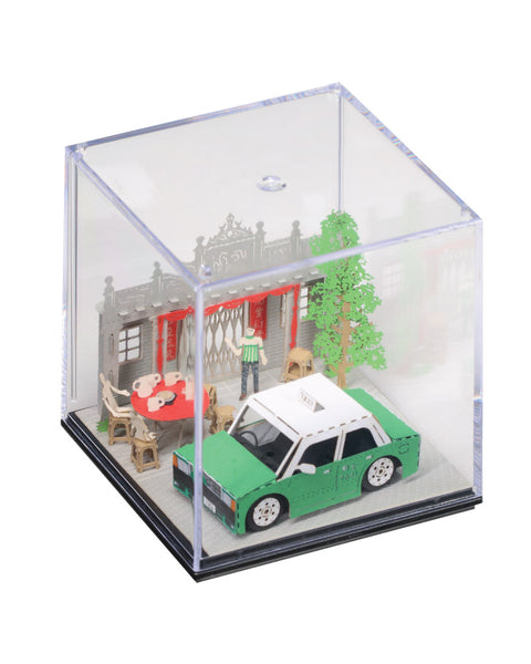 N.T. TAXI (Kam Tin) - FingerART Paper Art Model with Plastic Box (HK-5813) - POSTalk