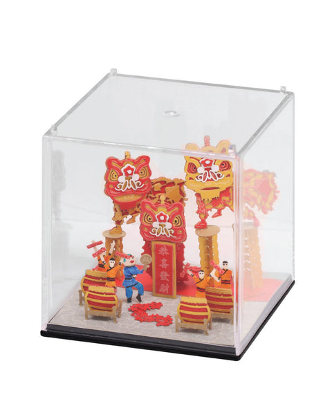 Lion Dance - FingerART Paper Art Model with Plastic Box (HK-581) - POSTalk