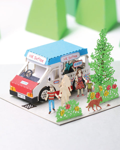 Mister Softee - FingerART Paper Art Model with Plastic Box (HK-643) - POSTalk
