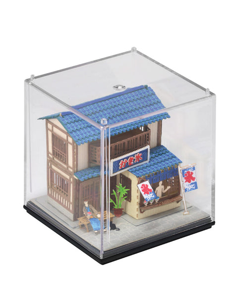 Shaved Ice House - FingerART Paper Art Model with Plastic Box (SJ-515) - POSTalk