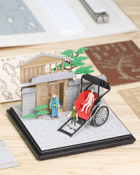 Rickshaw - FingerART Paper Art Model with Plastic Box (SJ-522) - POSTalk