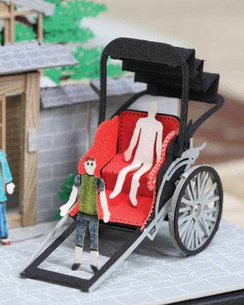 Rickshaw - FingerART Scene of Japan