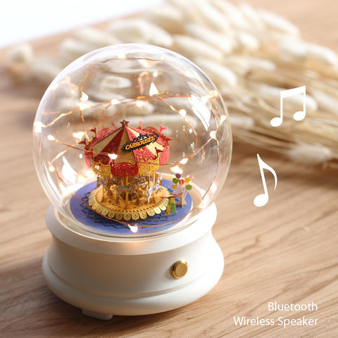 Crystal Ball Wireless Speaker with Merry Go Round (F002) +(FS-753) - POSTalk