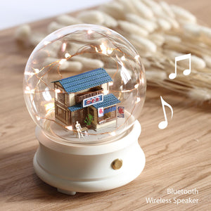 Crystal Ball Wireless Speaker with Shaved Ice House (F002) +(SJ-515) - POSTalk
