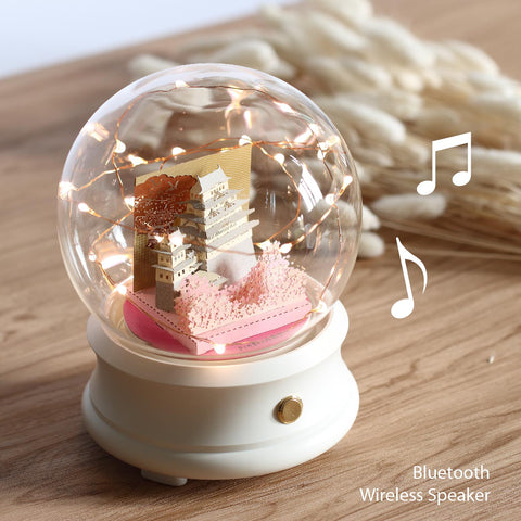 Crystal Ball Wireless Speaker with Himeji Castle (F002) +(SJ-5123) - POSTalk