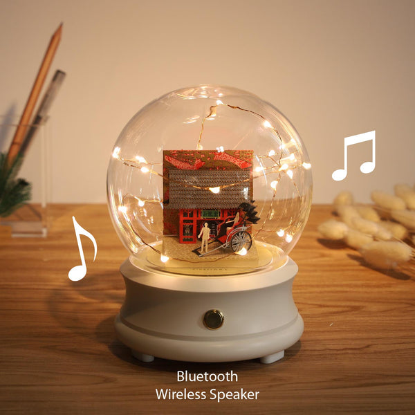 Crystal Ball Wireless Speaker with Kaminarimon (F002) +(SJ-513) - POSTalk