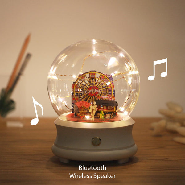 Crystal Ball Wireless Speaker with Ferris Wheel (F002) +(FS-751) - POSTalk
