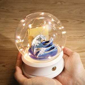 Crystal Ball Wireless Speaker with The Great Wave (F002) +(SJ-5124) - POSTalk