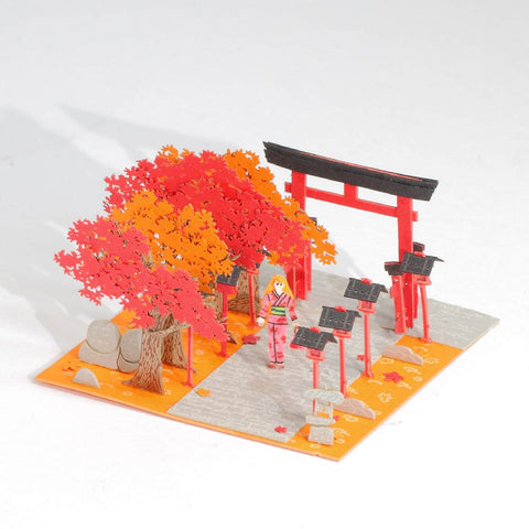 Momiji - FingerART Paper Art Model with Plastic Box (SJ-5120) - POSTalk