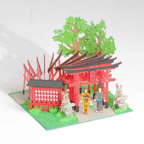 Senbon Torii - FingerART Paper Art Model with Plastic Box (SJ-511) - POSTalk
