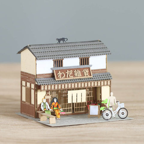 Grocery Store - FingerART Paper Art Model with Plastic Box (SJ-516) - POSTalk