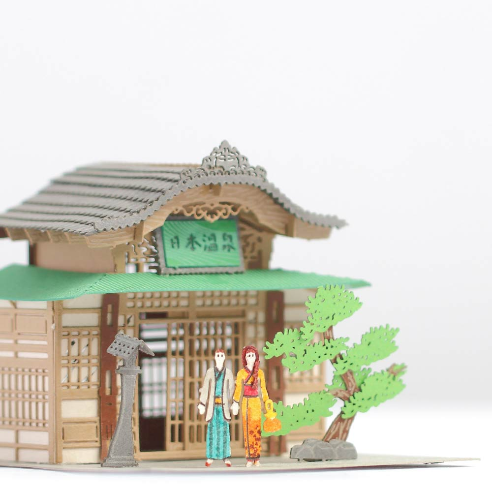 Japan Onsen - FingerART  Paper Art Model with Plastic Box (SJ-5122) - POSTalk