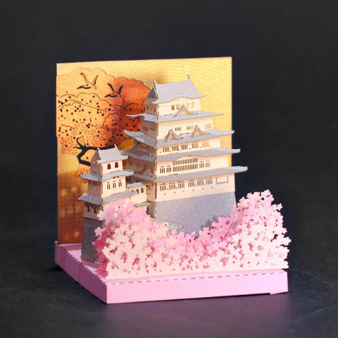 Himeji Castle - FingerART Paper Art Model with Plastic Box (SJ-5123) - POSTalk