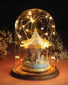 Merry Go Round [Grand Edition] + Glass Bell Jar with LED Star Light, POSTalk (LM49) (AF05) - POSTalk