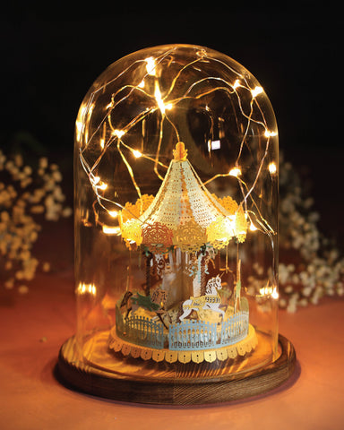 Merry Go Round Light Model (Grand Edition) + Bell Jar with LED Star Light [SPECIAL PACKAGE] - POSTalk