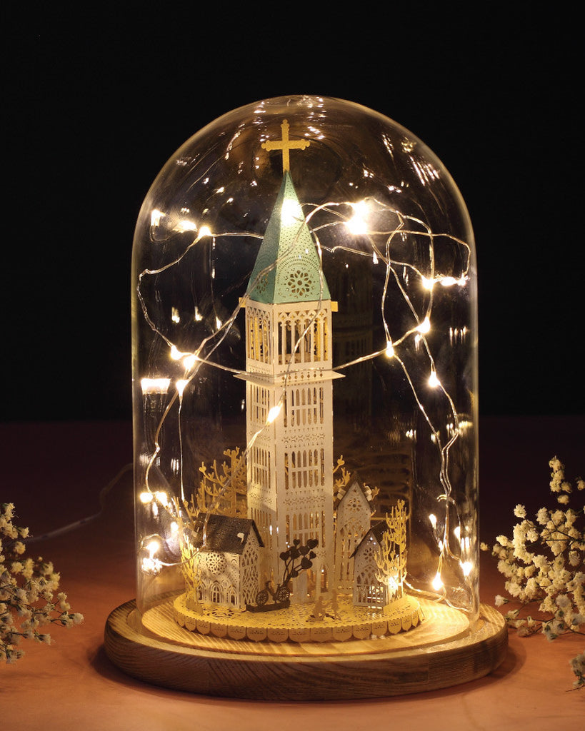 Chapel Light Model (Couple in Love Series) + Bell Jar with LED Star Light [SPECIAL PACKAGE]
