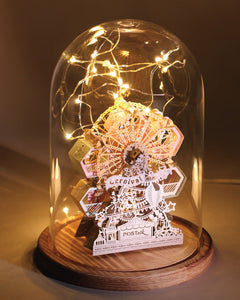 Ferris Wheel [Grand Edition] + Glass Bell Jar with LED Star Light, POSTalk (LM53) (AF05) - POSTalk