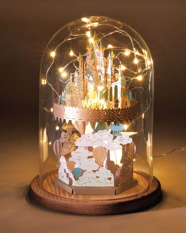 Floating Castle Light Model + Bell Jar with LED Star Light [SPECIAL PACKAGE]