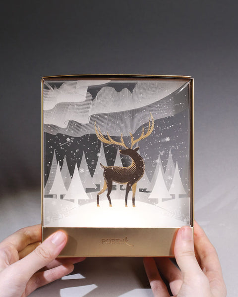 Deer in Snow InSpace
