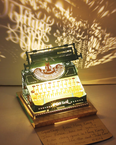 Typewriter (Blue & Gold) Light Model