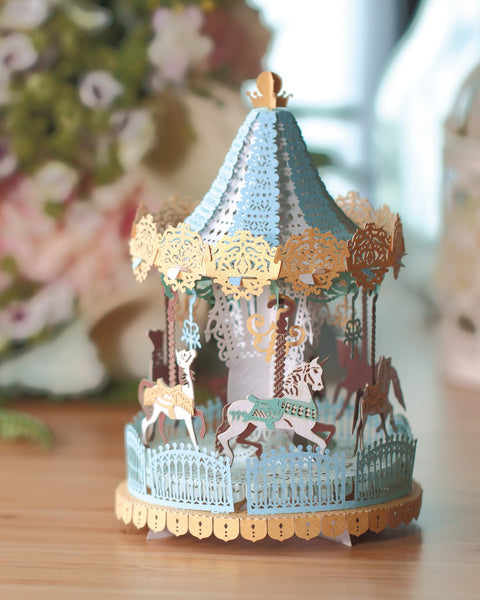 Merry Go Round Light Model (Grand Edition) + Bell Jar with LED Star Light [SPECIAL PACKAGE]
