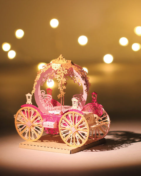 Grand Pumpkin Carriage - Light Model + Bell Jar with LED Star Light [SPECIAL PACKAGE]