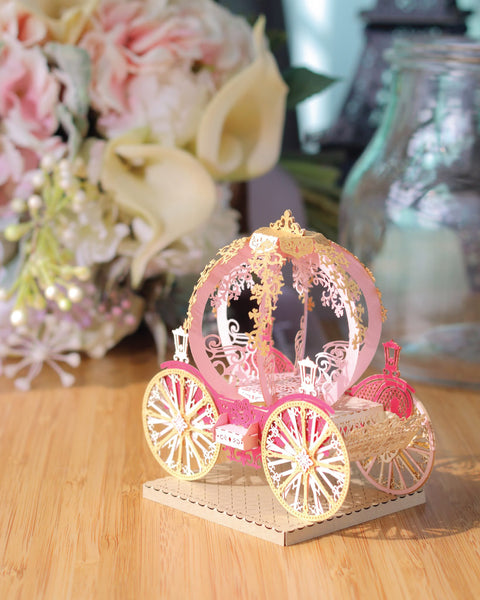 Grand Pumpkin Carriage - Light Model + Bell Jar with LED Star Light [SPECIAL PACKAGE] - POSTalk