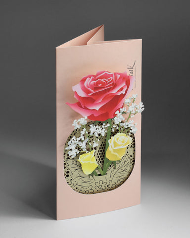 Rose POP-UP Greeting Card - Fleuriste Series - POSTalk