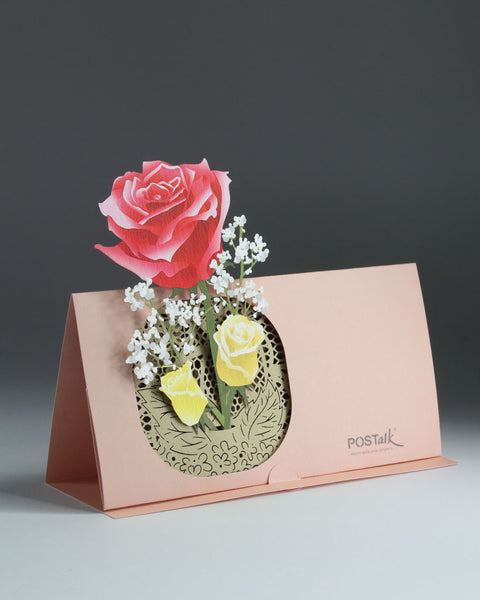 Rose POP-UP Greeting Card