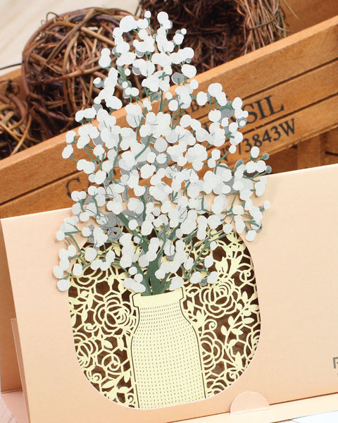 Gypsophila POP-UP Greeting Card - Fleuriste Series